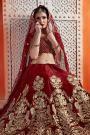 Maroon Velvet Lehenga with Beautiful Embroidery