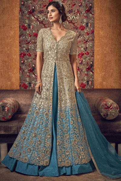 Designer Anarkali with Lehenga/Pant