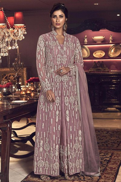 Blush Pink Embroidered Indian Suit