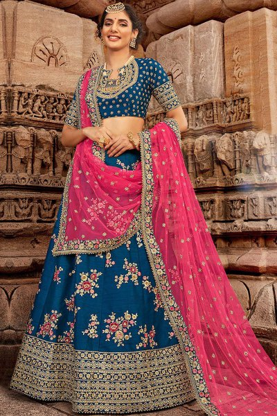 Indian Zari Embroidered Lehenga Choli
