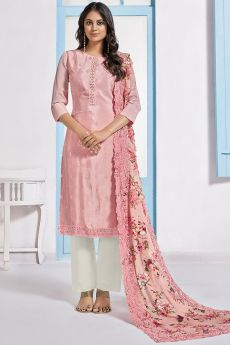 Pink Embroidered Designer Indian Suit
