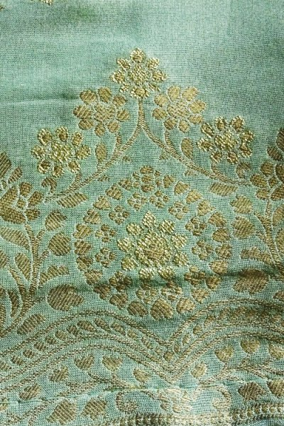 Aqua Marine Silk Sharara Suit with Silk printed Dupatta