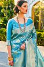 Light Blue Designer Silk Weaved Saree