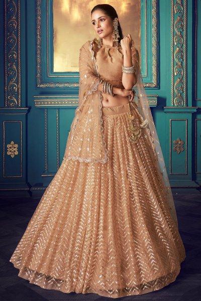 Designer Sequin Indian Net Lehenga with Stylish Blouse