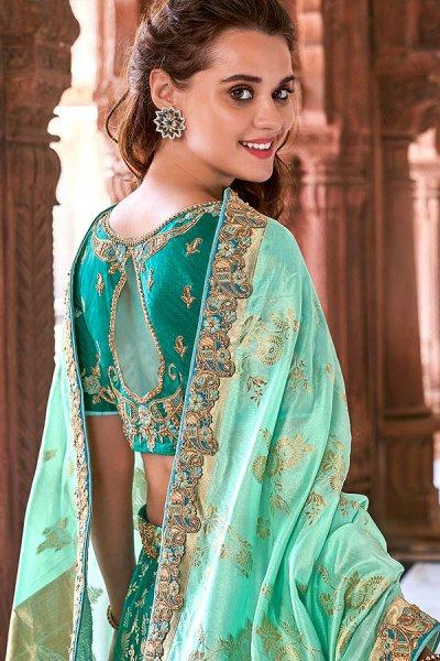 Designer Banarasi Silk Lehenga Choli