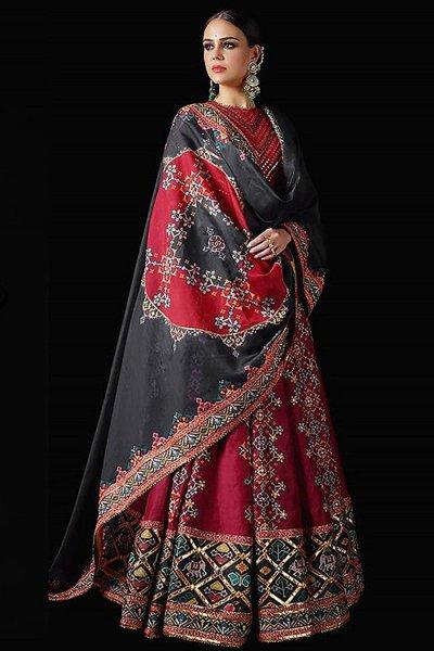 Maroon Patola Silk Designer Lehenga