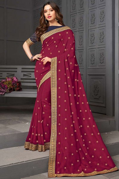 Designer Silk Party Wear Saree