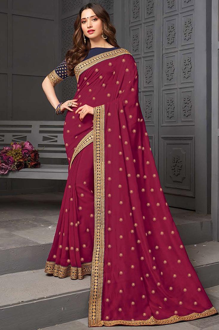 Designer Silk Party Wear Saree