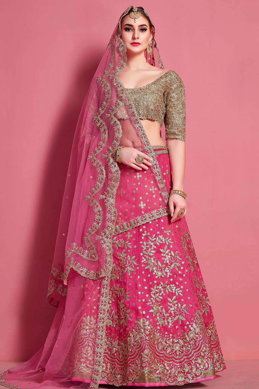 Sequin Embellished Silk Lehenga Choli