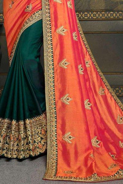 Designer Silk Saree with Zari Detailing