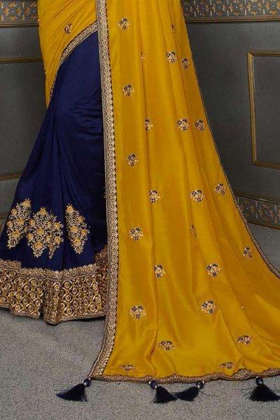 Mustard Silk Saree