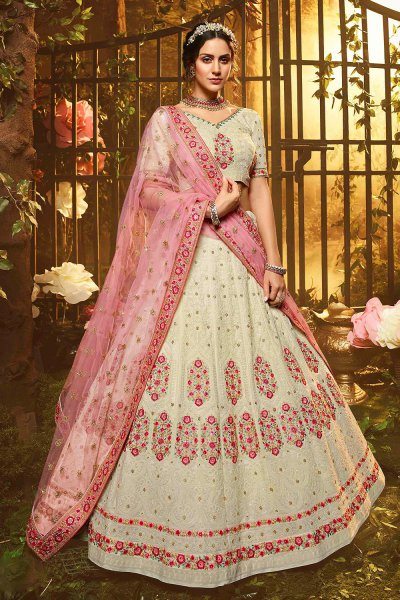Beautiful Georgette Embroidered Lehenga with Net Dupatta