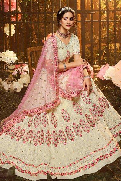 Beautiful Georgette Embroidered Lehenga with Net Dupatta