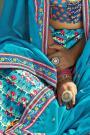 Blue Digital Printed Silk Lehenga Choli
