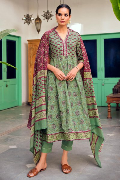 Ready to Wear Premium Cotton Printed Anarkali Suit