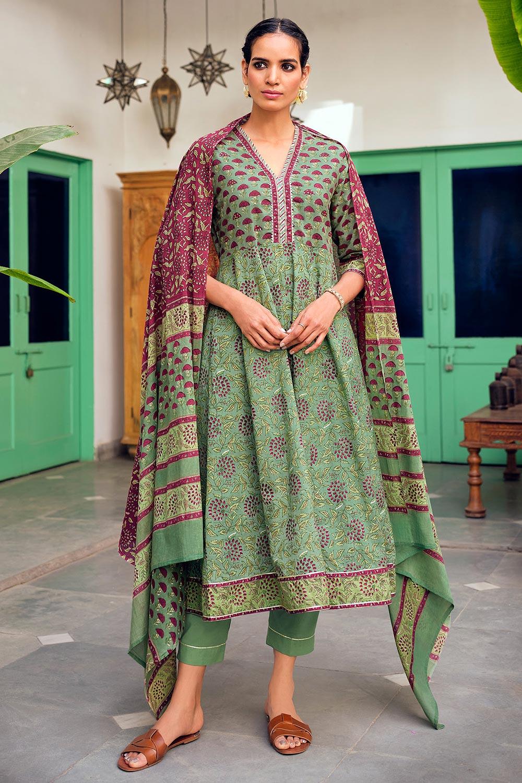 Ready to Wear Premium Cotton Printed Anarkali Suit