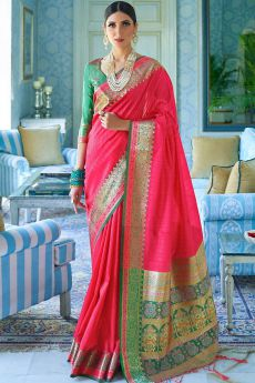 Pink Silk Saree