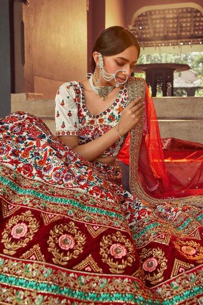 Beautiful Resham Embroidered Silk Lehenga Choli