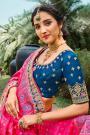 Blue Silk Embroidered Lehenga Choli