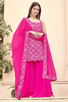Beautiful Gota Work Palazzo Suit in Georgette