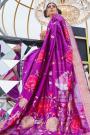 Magenta Silk Weaved Saree