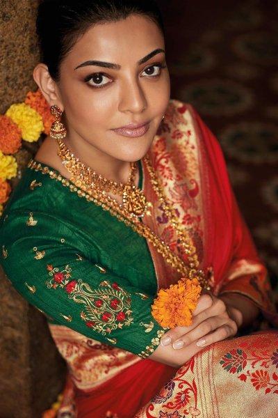 Ravishing Red Party Wear Woven Silk Saree