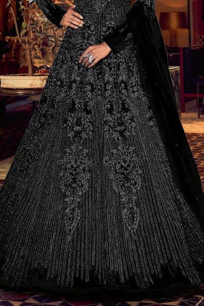 Black Embellished Indian Designer Suit