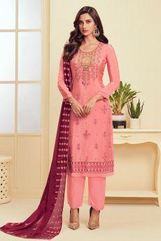 Rouge Pink Georgette Kurta set