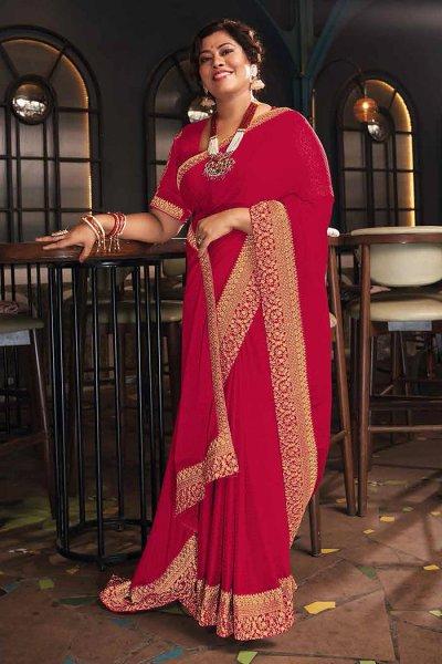 Red Silk Saree