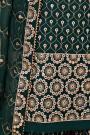 Bottle Green Embroidered Georgette Sharara Set