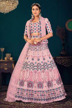 Light pink Georgette Lehenga Choli