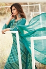 Beautiful Green Digital Printed Cotton Lawn Suit With Chikan Embroidery Sleeves