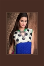 Alluring And Stunning Designer Georgette Kurti with Complimentary necklace