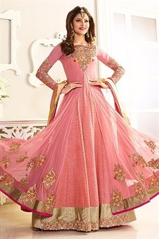 Beautiful Pink designer Anarkali suit