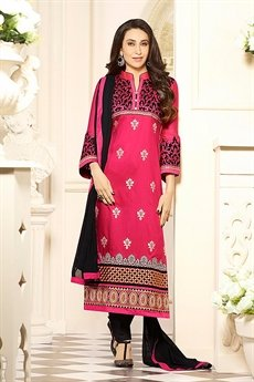 Zankar By Karishma Cotton Salwar Kameez Red