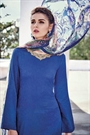 Royal Blue Embroidered Cotton Jacquard Designer Salwar Suit