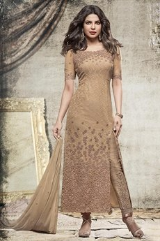 Beautiful Mocha long straight suit