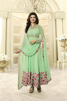 Beautiful pastel green Anarkali suit