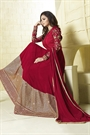 Glam Maroon Intricate Embroidered And Sequins Work Georgette Long Anarkali Suit