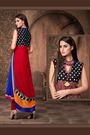 Alluring And Stunning Designer Georgette Kurti With Embroidery with Complimentary necklace