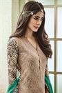Light Brown Printed Pure Georgette Straight Salwar Suits