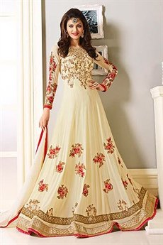 Royal cream Designer Anarkali suit