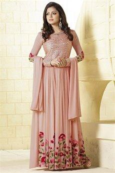 Stunning Peach Anarkali Suit