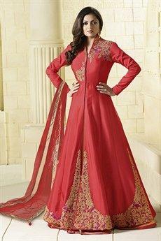 Royal Red Anarkali Suit