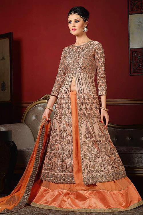 Dusty Peach Designer Lehenga