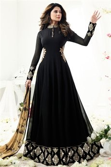 Ravishing Black Floor length Anarkali Suit