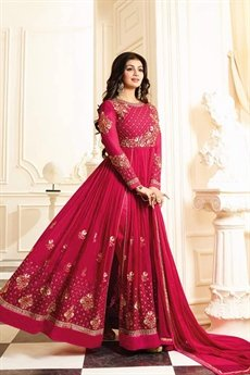 Beautiful Zari and Resham thread Embroidery Designer Anarkali Suit In Georgette