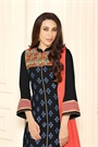 Black Printed Cotton Slik Salwar Kameez By Karishma