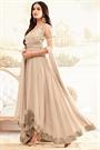 Enchanting Beige Designer Anarkali Suit