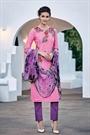 Brink Pink Embroidered Cotton Jacquard Designer Salwar Suit